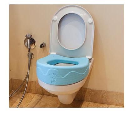 grand seat on toilet